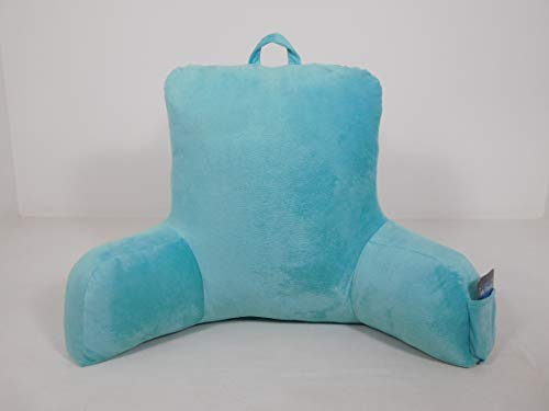 Mainstay Micro Plush Double Sided Arms Support Backrest Soft Pillow (Aqua)