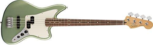 Fender Player Jaguar Electric Bass Guitar - Pau Ferro - Sea Green Metallic
