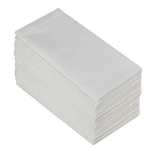 Cotton Craft Napkins- 24 Pack Oversized Dinner Napkins 20x20 White- 100% Cotton- Tailored with Mitered Corners and a Generous Hem- Napkins are 38% Larger Than Standard Size Napkins