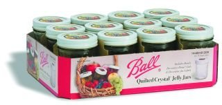 Ball Deluxe Quilted Jelly Canning Jar 8 Oz., Case of 12