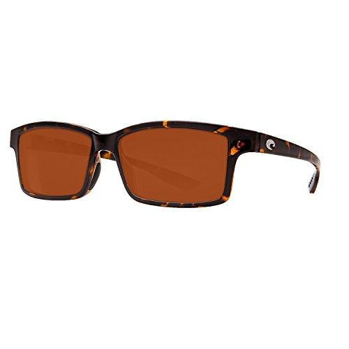 Costa Del Mar Tern Polarized Sunglasses Retro Tortoise/400P Dark - Tern Sunglasses Costa Polarized