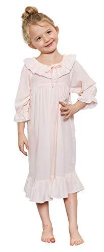 (Orcite Girls Princess Nightgown Pajama Dress Lace Skirt Sleepwear PJS Size 2-13 Years Ariel Kid Toddler 4-5T(39-43 inch / 37-44)