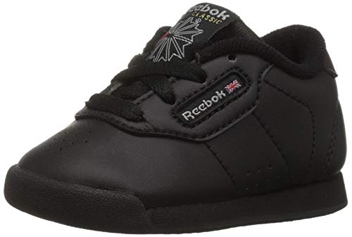 Reebok Girls' Princess Sneaker, black/black, 11 M US Little Kid