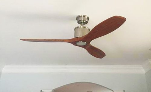 Reagan ii 52 in brushed nickel led ceiling fan amazon brushed nickel led ceiling fan amazon aloadofball Image collections
