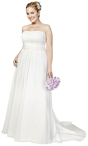 SAMPLE: Chiffon A-line with Beaded Lace on Empire Style AI13011249, Ivory, ()