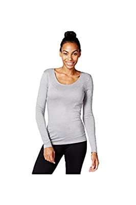 32 Degrees Solid Scoop Neck Baselayer Top