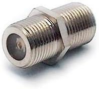 Metronic 438117 - Empalme/Adaptador coaxial con Toma F Hembra, Color Gris
