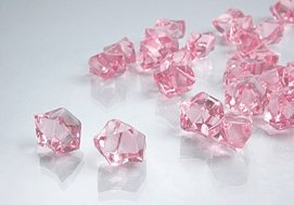 Dashington 2 Pounds of Pink Acrylic Ice Rock Vase Gems or Table Scatters