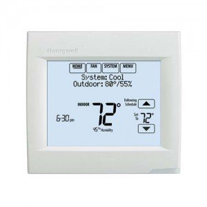Touch Screen Thermostat with Dehumidification Control with R