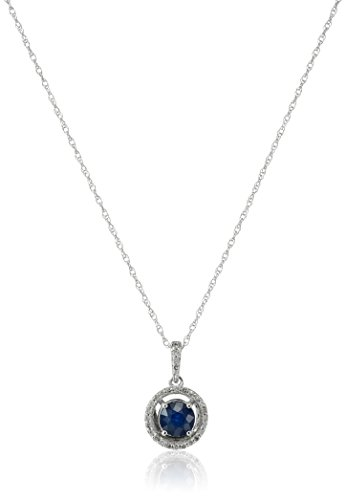 10k-Yellow-Gold-Gemstone-and-Diamond-Halo-Pendant-Necklace-18-110cttw-I-J-Color-I2-I3-Clarity