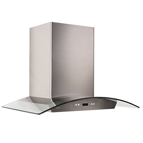 CAVALIERE 36'' Wall Mounted Stainless Steel / Glass Kitchen Range Hood 900 CFM SV218D-36 by CAVALIERE (Image #2)