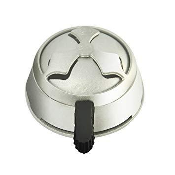 (Lotus Hookah Bowl Heat Management Charcoal Box - Silver with Black Handle - Hookah Wind Cover - Longer Smoking Shisha Improvement Charcoal Funnel Box Holder)
