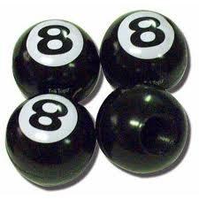 8 Ball Valve Caps set of 4 ()