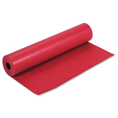 PACON Colored Kraft Roll Paper-Red