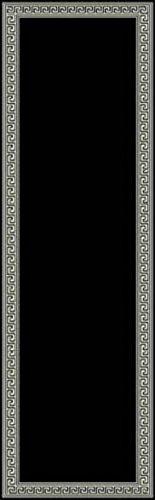 Small Greek Key (2x8 Runner Rug Modern Greek Key Design Hallway Solid Black Size 2'x7'2