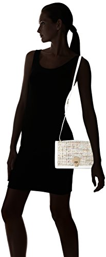 Chicca Borse 8647, Borsa a Spalla Donna, 25x16x8 cm (W x H x L) Bianco