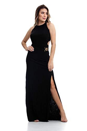8185b60a18 Vestido Clara Arruda Longo Fivela 50300 - G - Preto ...