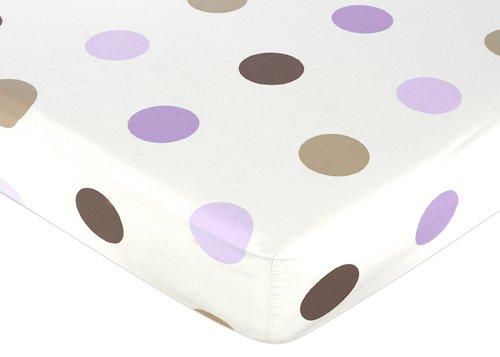 Mod Purple Brown Sheet for Baby Bedding Sets by Sweet Jojo - Dot