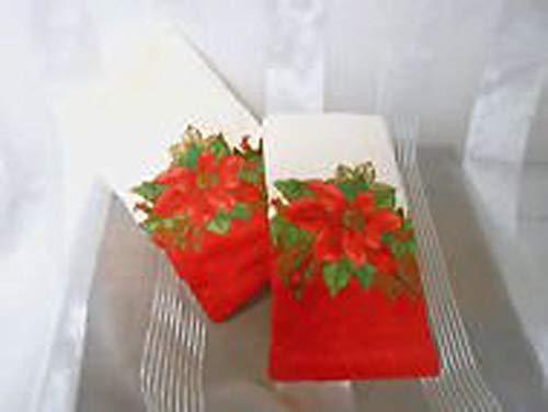 (Lenox Holiday Poinsettia Tartan Fingertip Towel Set)