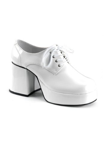 Funtasma by Pleaser Men's Jazz-02 Platform Oxford,White Patent,L - Disco Dance Solo Costumes