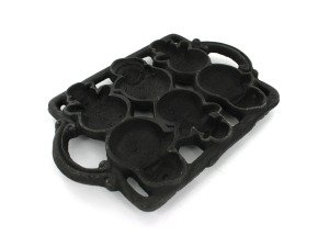 Snowman Cast Iron Christmas Muffin PAN Mold Bakeware