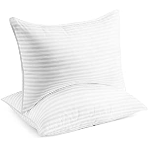Beckham Hotel Collection Bed Pillows for Sleeping – Queen Size, Set of 2 – Soft Allergy Friendly, Cooling, Luxury Gel Pillow for Back, Stomach or Side Sleepers