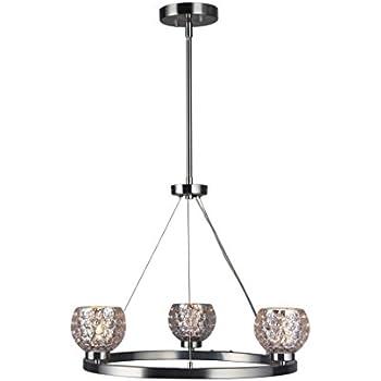 Mercury Crystal Ball Woodbridge Lighting 16323STN-C00514 Charlotte Mini-Pendant