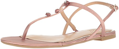 Badgley Mischka Jewel Womens Thom Flat Sandal Blush
