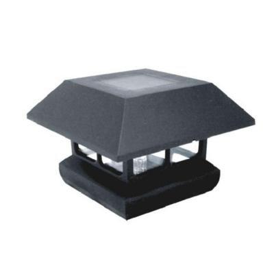Veranda 4 in. x 4 in. Black Solar-Powered Post Cap for Deck or Fence, Black (12 PACK) by Veranda (Image #1)