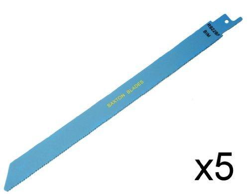 Saxton 225 mm 5 lames de scie Sabre R922BF en va-et-vient pour Bosch/Dewalt, Makita Saxton Trading