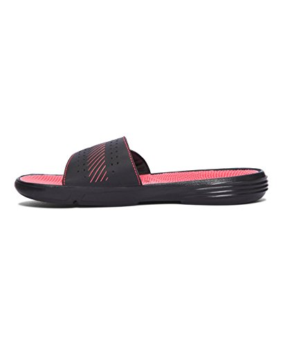 Under Armour Mujeres Micro G Ev Iii Slide Negro / Sirenas Coral