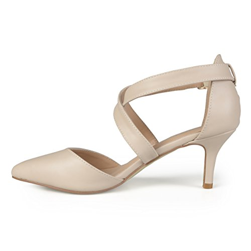 Journee Collection Mujeres Pointed Toe Bombas Mate Desnudo