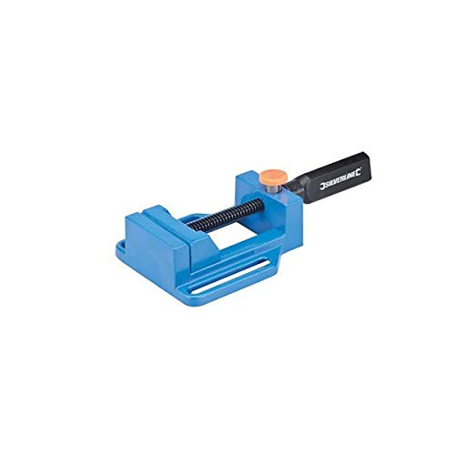 Cast Aluminium Notched Jaw Quick Release Drill Vise - 65MM Silverline