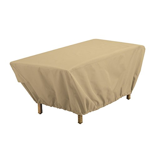 Classic Accessories Terrazzo Rectangular Patio Coffee Table Cover - All Weather Protection Outdoor Furniture Cover (Outdoor Rectangular Coffee Table)