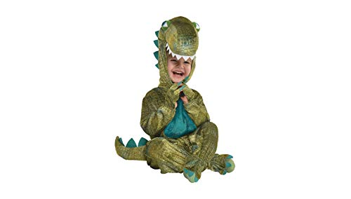 Dinosaur Halloween Costume for Infants, 6-12 Months, with Attached Hood, by Amscan