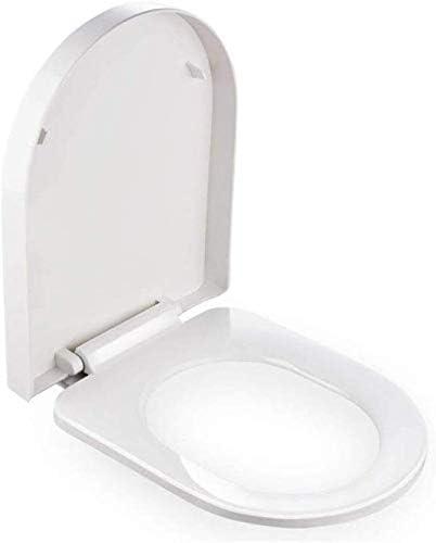 S-graceful便座バッファパッド付きの大きいU/小さいU字型便座クイックリリース浴室用超耐性トップマウントトイレカバーWhite-45-47cm * 35.5cm