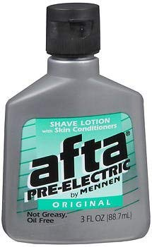 (Afta by Mennen Pre-Electric Shave Lotion Original - 3 oz, Pack of 3)