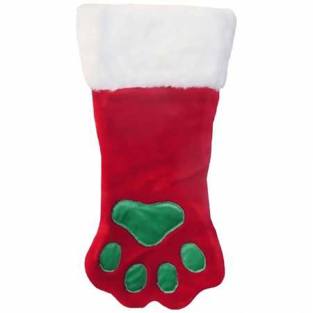 - Kyjen Outward Hound PP01767 Christmas Paw Stocking Dog Stocking Holiday Pet Accessory, Small, Red