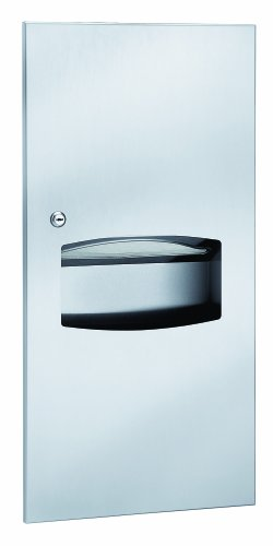 (Bradley 2297-000000 Contemporary Stainless Steel Recessed Mounted Towel Dispenser/Waste Receptacle, 14-1/4