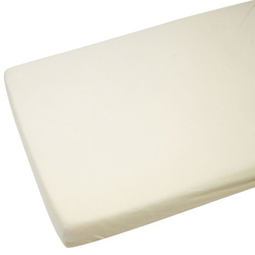 60 Cm Cream (2x Cot Jersey Fitted Sheet 120x60cm 100% Cotton Cream by)