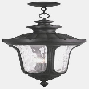 Livex Lighting 78703-04 Oxford 4 Light Outdoor Hanging Lantern Lantern, Black by Livex Lighting