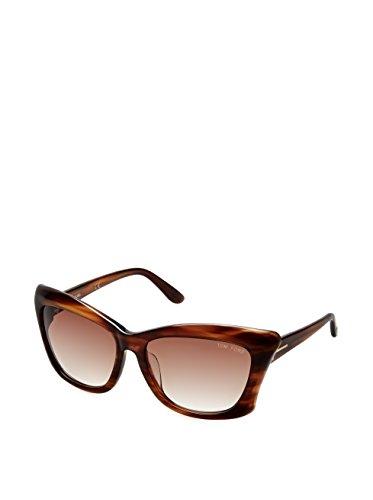 Tom Ford Sunglasses TF9280 Lana 50F Striped Honey 9280 (Asian - Prescription Fit Sunglasses Asian