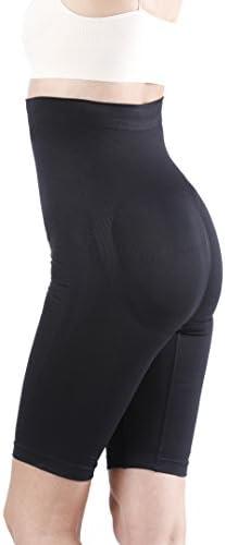 Yenita Women's Shapewear, High-Waist Long Leg Thigh Slimmer, Tummy Control
