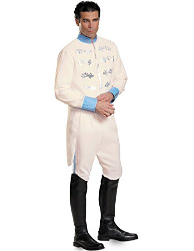 Disguise Men's Prince Movie Adult Deluxe Costume, White, X-Large -