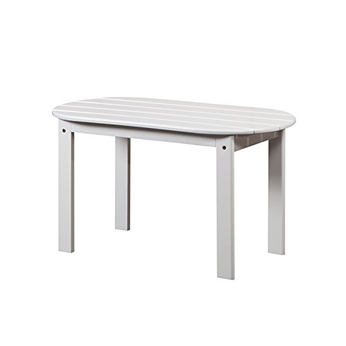 Linon Adirondack Patio Coffee Table in White (Table Coffee Adirondack)
