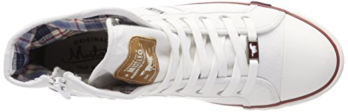 Weiß Mustang 504 Blanc Hautes 1 Homme 4058 1 Baskets OPOwH0q