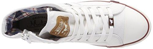 Bianco Sneaker Wei 1 Collo Uomo 1 a Alto 4058 Mustang 504 qtf8BB