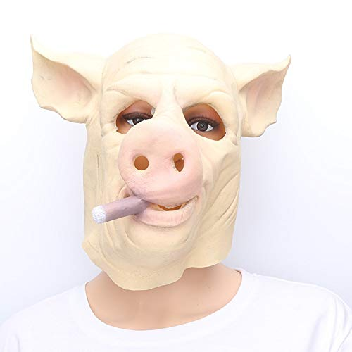 Culturemart Halloween Animal Pig Head Mask Latex Gorilla