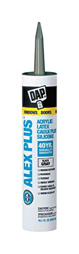 Dap 18118 11 Oz Slate Gray Alex Plus Acrylic Latex Caulk W/Silicone by DAP