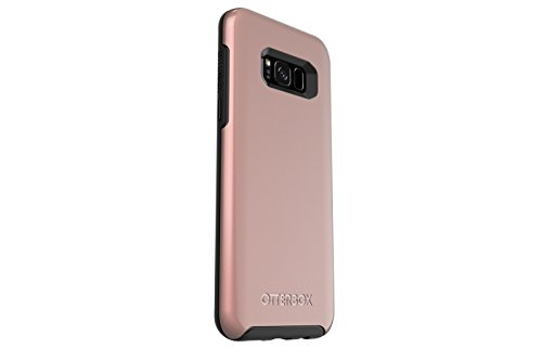 OtterBox SYMMETRY SERIES for Samsung Galaxy S8+ - Retail Packaging - PINK GOLD (BLACK/PINK GOLD GRAPHIC)